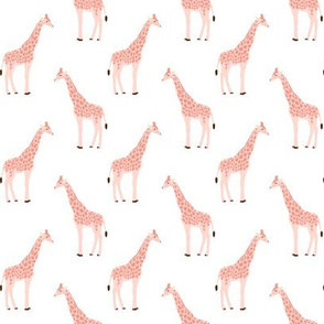 safari quilt pink giraffes animals nursery cute coordinate