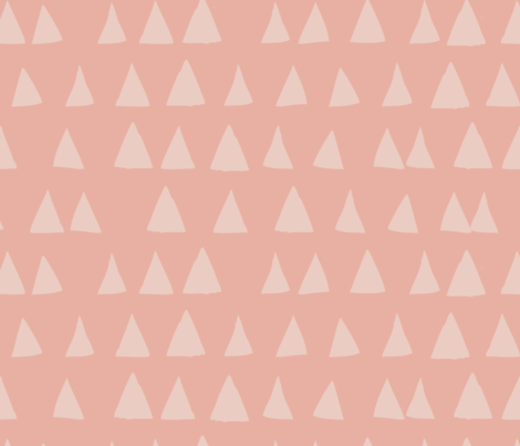 love triangle pinks fabric by mintedtulip on Spoonflower - custom fabric