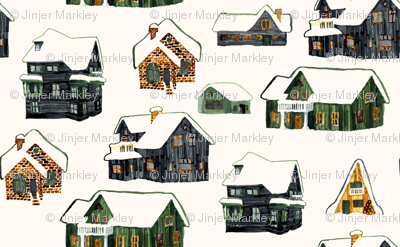 Little Snowy Farmhouses