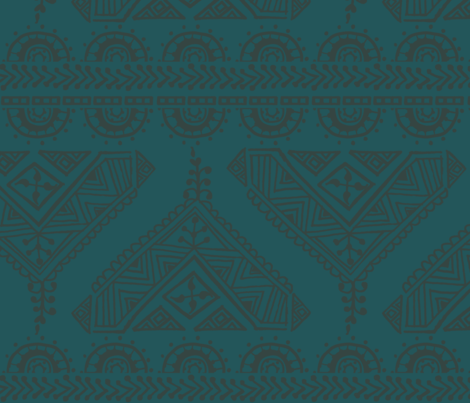 boho henna earth palette fabric by mintedtulip on Spoonflower - custom fabric