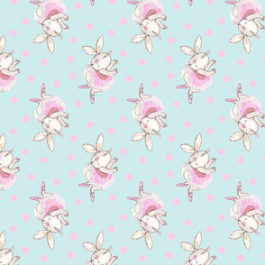 Ballet Bunny Pink n Aqua  Tutu Frou Frou Paris Bebe-ch