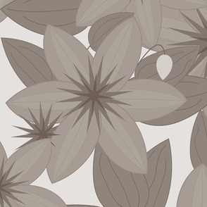 Clematis Scatter: Warm Gray