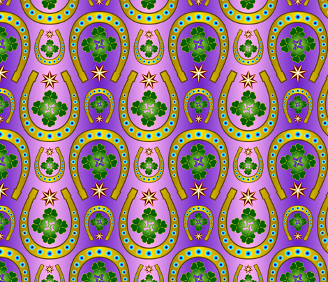 Lucky Horseshoe fabric by enid_a on Spoonflower - custom fabric