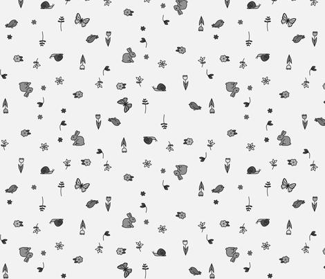 springtime in grey fabric by eleventy-five on Spoonflower - custom fabric