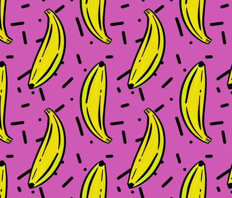 Banana Jazz Purple fabric by abbieuproot on Spoonflower - custom fabric