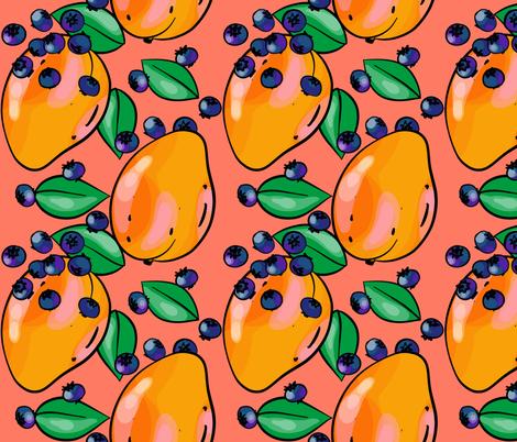 Mango Fandango Tangerine fabric by abbieuproot on Spoonflower - custom fabric