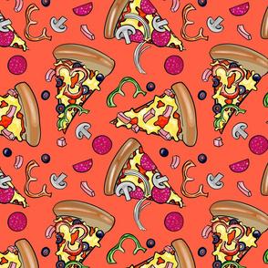 Pepperoni Pizza Slices Tangerine