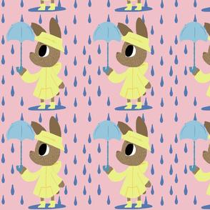 bun in the rain