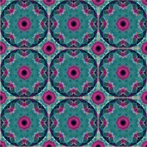 Purple Green Mandala Pattern