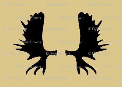 Moose Antlers - Tan // Large