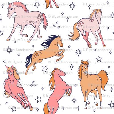Sunset Sparkle Horses