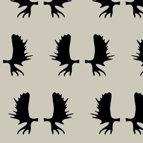 Moose Antlers - Light Taupe // Large
