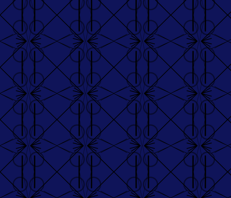 black and navy fabric by ampersand_designs on Spoonflower - custom fabric