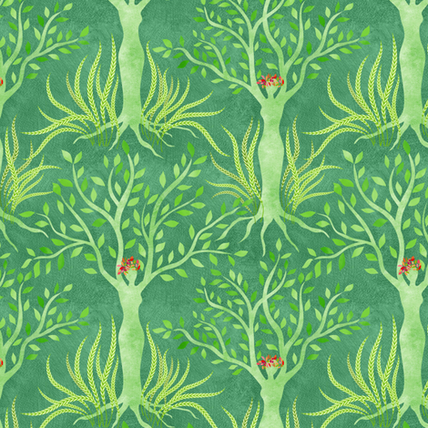 Sisterhood: Gaia universally nurturing growth  fabric by vo_aka_virginiao on Spoonflower - custom fabric
