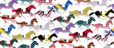 Off to the Horse Races Jockey Silk Pattern