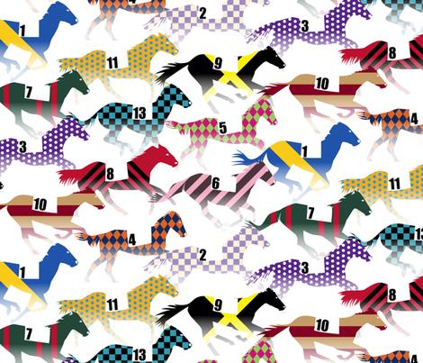 Off to the Horse Races Jockey Silk Pattern  fabric by wickedrefined on Spoonflower - custom fabric