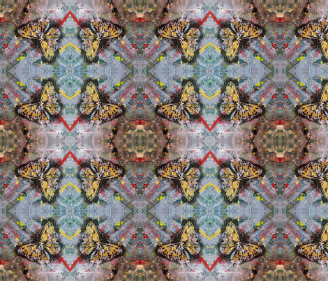 Butterflies Blossoms fabric by elisasoulartist on Spoonflower - custom fabric