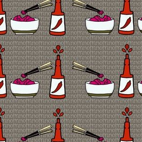 brains and hot sauce-nomnomnom grey