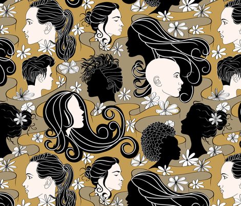 Sisters Challenge fabric by house_of_heasman on Spoonflower - custom fabric