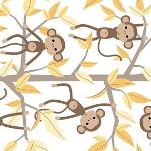 Monkey jungle yellow - rotated