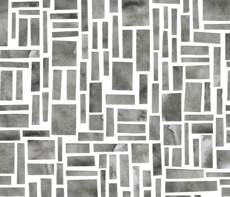 Rocky rectangles fabric by crafted on Spoonflower - custom fabric