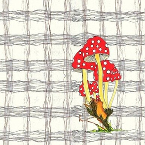 Toadstool Plaid Eggshell