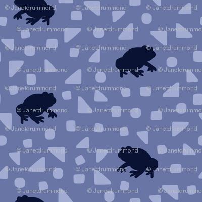 Queensland Fauna: Cane Toads in blue
