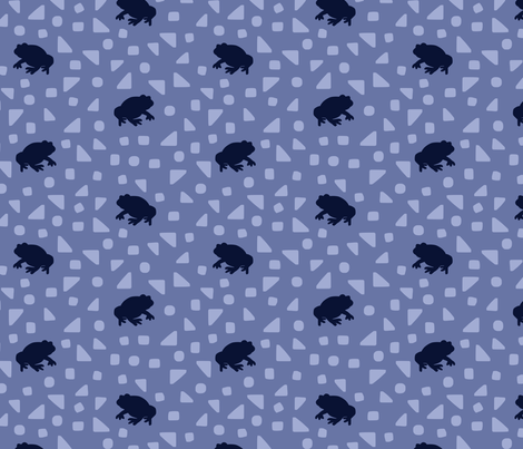 Queensland Fauna: Cane Toads in blue fabric by janetdrummond on Spoonflower - custom fabric