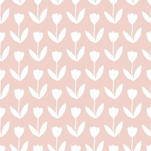 White Tulips on Pink