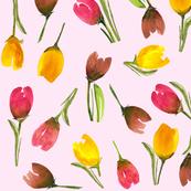Tulip dream on pink