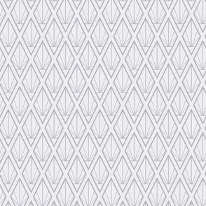 Deco Diamonds- Midsized Gray Tones