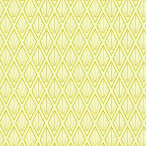Deco Diamonds, Lemon Yellow Midsized