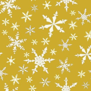 Snowflakes - Ivory, Pineapple