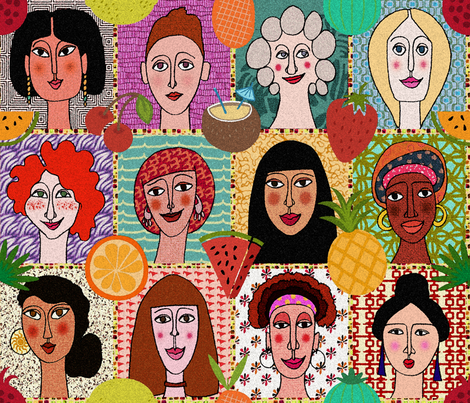 The Colors of Women fabric by chicca_besso on Spoonflower - custom fabric