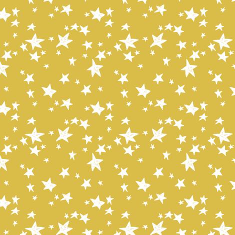 stars // mustard yellow star fabric andrea lauren design scandi design - small fabric by andrea_lauren on Spoonflower - custom fabric