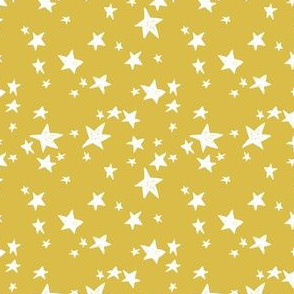 stars // mustard yellow star fabric andrea lauren design scandi design - small