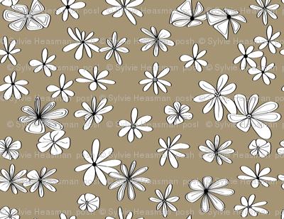Dark Gold flower fabric