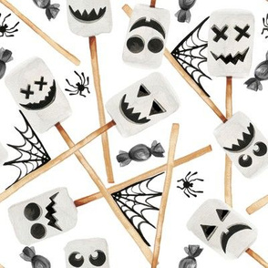 "8"" Spooky Marshmallow Ghosts"