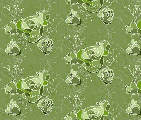 Exotic Esmeralda Green  fabric by salzanos on Spoonflower - custom fabric