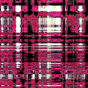 Hot pink blk wht contemporary plaid
