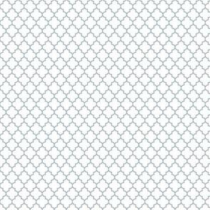 quatrefoil slate blue on white - small