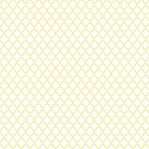 quatrefoil sunshine yellow on white - small
