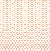 quatrefoil tangerine on white - small