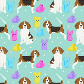 Beagle easter spring marshmallow treats dog breed pet fabric mint