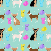 chihuahua easter spring marshmallow treats dog breed pet fabric mint