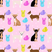 chihuahua easter spring marshmallow treats dog breed pet fabric pink