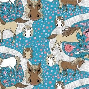 all the pretty horses, large scale