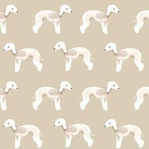 bedlington terrier fabric dogs pet design - tan