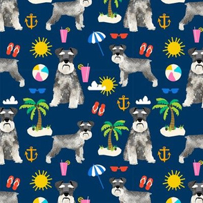 schnauzer beach summer dog breed fabric pet pure breed navy