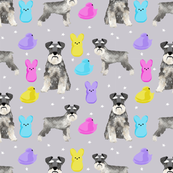 schnauzer easter spring marshmallow treats dog breed pet fabric grey